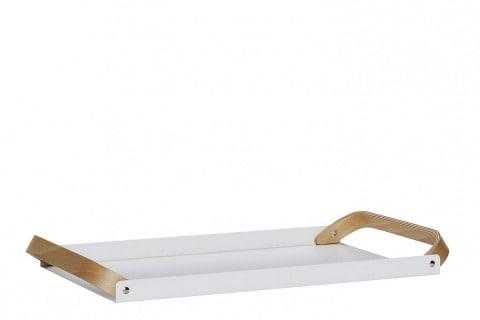 Podnos (Hübsch), kov/dřevo, 51 x 28 x 3 cm, cena 1 599 Kč, www.laladesign.cz