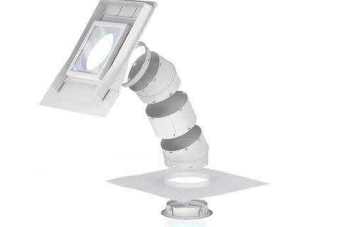 Místo žárovky - výrobce: VELUX, www.velux.cz. Pomocí vysoce odrazivého tubusu světlovodu je možné i během zatažených dní prosvětlit místnosti uprostřed domu, kuchyně, koupelny či chodby stejně intenzivně jako prostřednictvím tradiční 60W žárovky, a to až do vzdálenosti 6 m